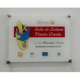 PLACA DE VIDRO 40x30 cm